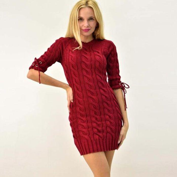 Γυναικείο πλεκτό φόρεμα μίνι