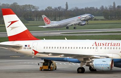 Austrian Airlines отменила 70 рейсов на 22 марта
