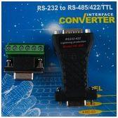 RS232轉接RS422全雙工RS-422含電線轉接板RS-232轉接器適合長距離考勤門禁停車場設備通訊連接HC-03