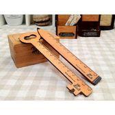 《散步生活雜貨-鄉村散步》日本進口DECOLE-KlugEule木製吸鐵定規尺-兩款選擇