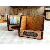 《散步生活雜貨-鄉村散步》日本進口DECOLE-KlugEule木製復古紙膠帶收納盒