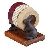 《散步生活雜貨-鄉村散步》日本DECOLE-LoppisAntique風格鐵鑄膠台架-兔