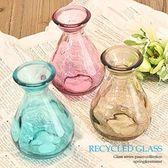 《散步生活雜貨-鄉村散步》日本Freemarket-RecycledGlass玻璃瓶花器GB69-三色選擇