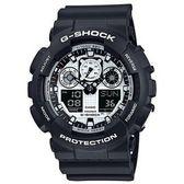 【錶現e世代】CASIO。G-SHOCK變形金剛系列/黑白(GA-100BW-1)免