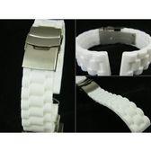 【錶帶家】白色代用RolexTudor勞力士J12Chanel帝舵有19mm