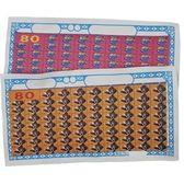 80當抽當用抽抽樂紙牌(公用1-80號紙牌)/一包50組入{特10}