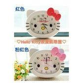 HelloKitty浪漫凱蒂屋超萌HelloKitty貓頭型掛鐘超靜音壁鐘時鐘