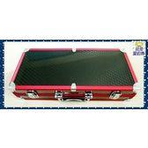 【就是愛釣魚】含運紅色菱格紋槍箱/鋁框手提式釣蝦箱蝦竿釣具箱釣蝦蝦釣釣魚收納箱工具箱原價$2500