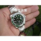 代用勞力士ROLEX16610LVSUBMARINR綠面水鬼綠色陶瓷錶圈