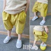 兒童棉麻短褲夏裝哈倫褲萬特惠廣場