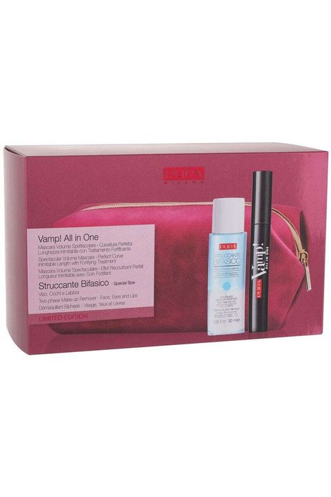 Pupa Vamp! All In One Mascara 101 Extra Black 9ml Combo: Mascara Vamp! All In One 9 Ml + Two-phase Make-up Remover 50 Ml + Cosmetic Bag