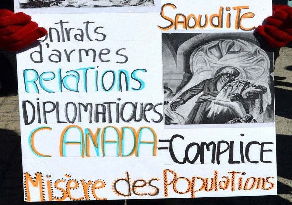 """The Foreign Minister Must Resign! No to the Arms Sales to Saudi Arabia! No to the """"New Doctrine"""" Called """"Responsible Conviction!"""" - Communist Party of Canada (Marxist-Leninist)"""