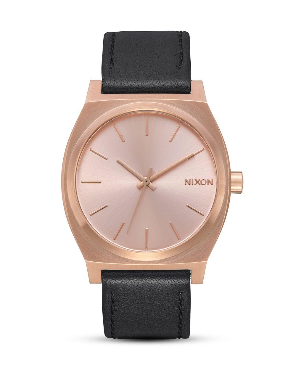 NIXON, Quarzuhr Time Teller A045-1932 All Rose Gold / Black