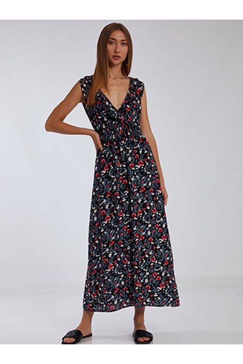 Floral φόρεμα με βολάν SH1666.8351+3