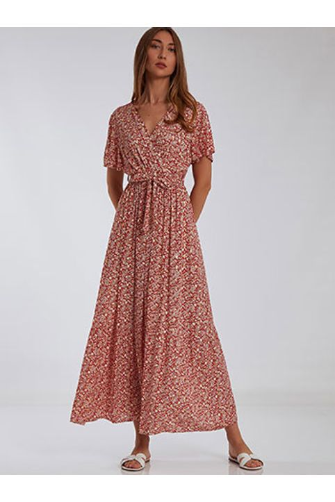 Φόρεμα με μεταλλιζέ λεπτομέρειες SH1738.8119+2