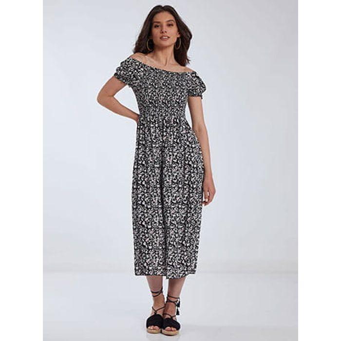 Midi φόρεμα με σφηκοφωλιά SH1775.8088+1