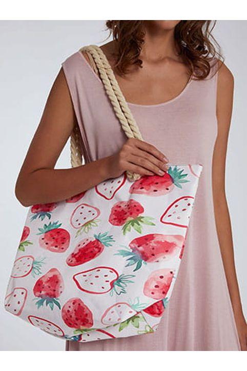 Τσάντα θαλάσσης με φράουλες SH673.A263+1