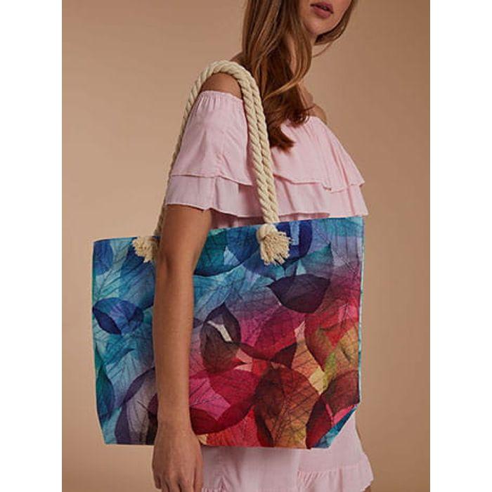 Τσάντα θαλάσσης με φύλλα SH673.A276+1