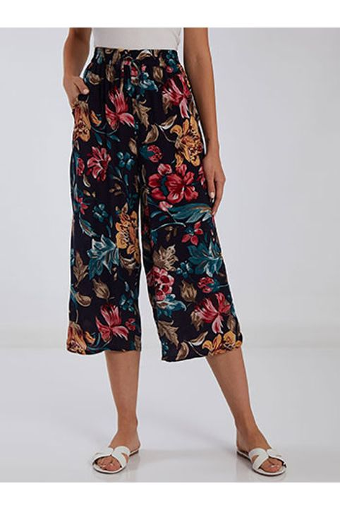 Floral cropped παντελόνα SH7997.1995+2