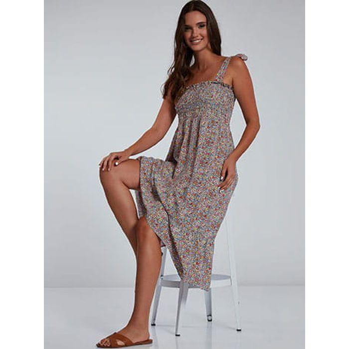 Φόρεμα με δέσιμο στους ώμους SH9844.8101+1