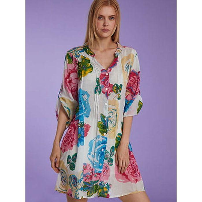 Floral καφτάνι SH9845.3004+4
