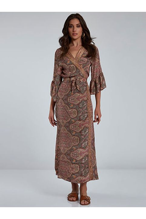 Κρουαζέ φόρεμα με βολάν SH9845.8092+6