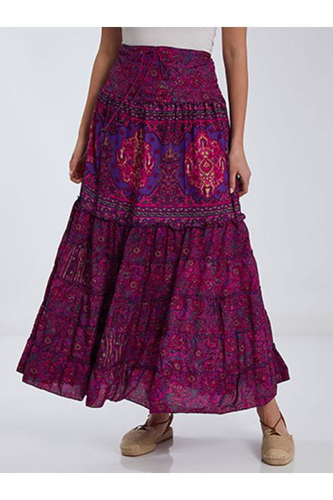 Εμπριμέ φόρεμα φούστα SH9845.8133+4