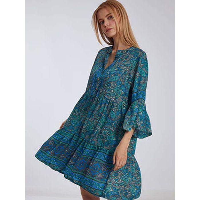 Φόρεμα καφτάνι με λαχούρια SH9845.8163+1