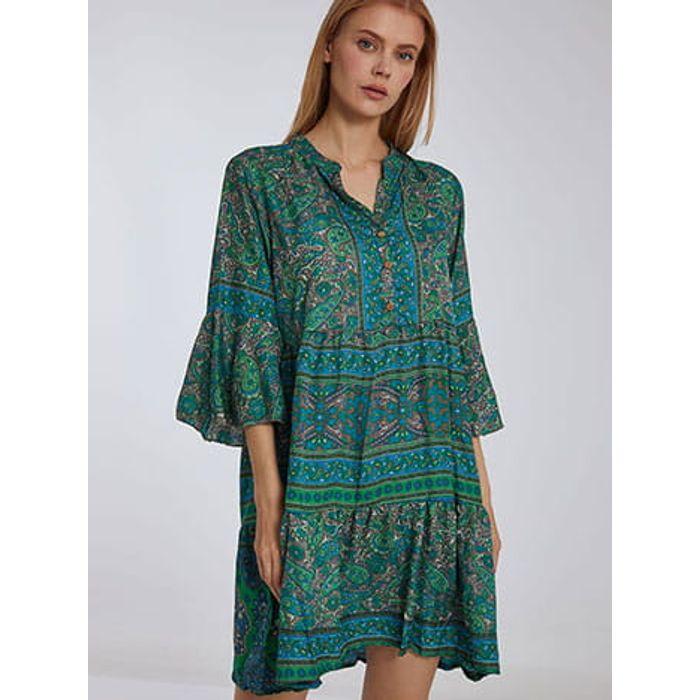 Φόρεμα καφτάνι με λαχούρια SH9845.8163+2
