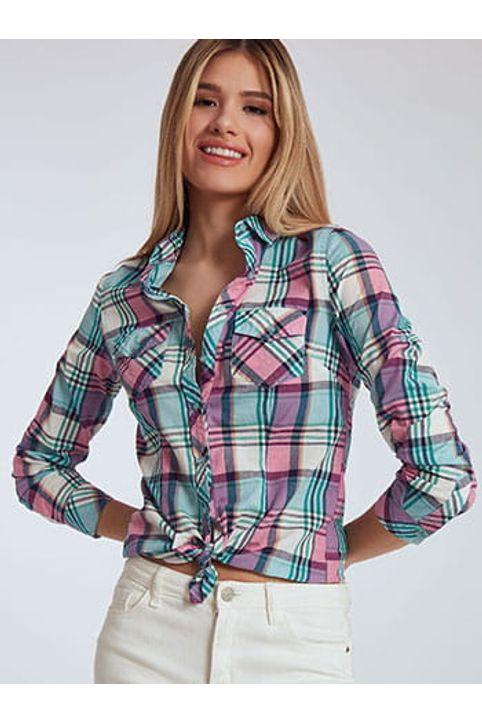 Καρό βαμβακερό πουκάμισο SH9907.3332+2
