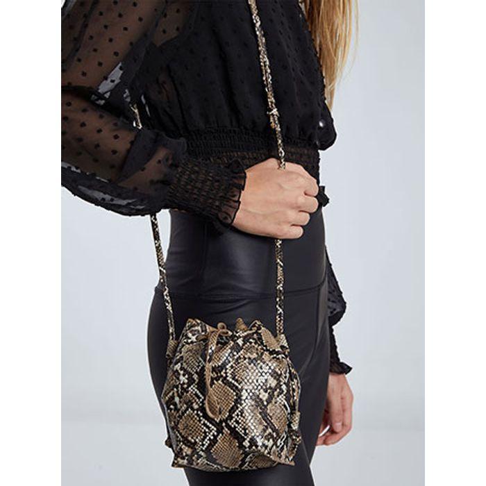 Τσάντα πουγκί σε τύπωμα φίδι WH673.A252+1
