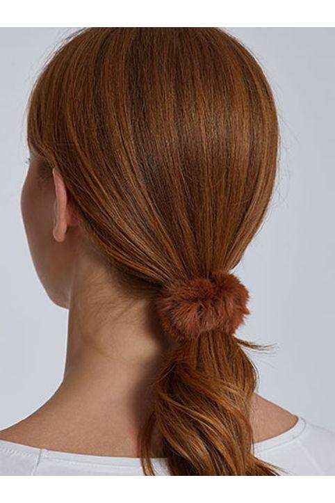 Λαστιχάκι μαλλιών από συνθετική γούνα WH9855.A111+3