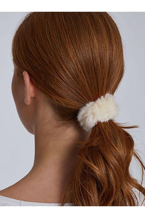 Λαστιχάκι μαλλιών από συνθετική γούνα WH9855.A111+2