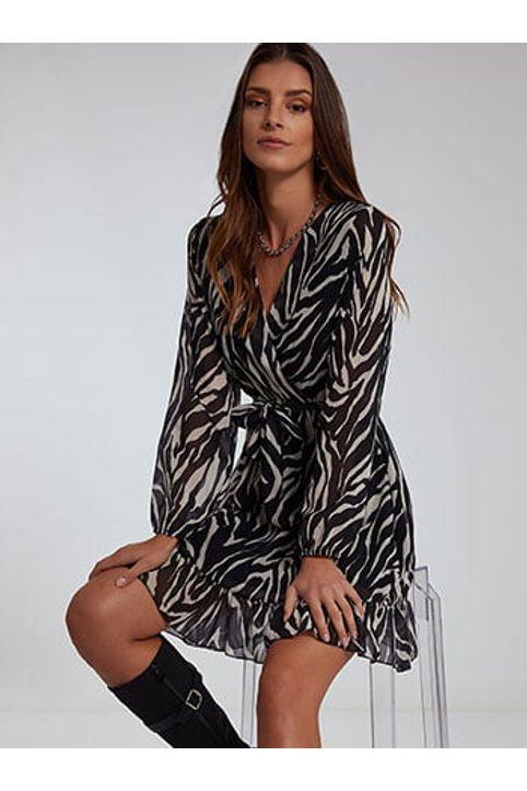 Κρουαζέ φόρεμα σε animal print WM8011.8584+1