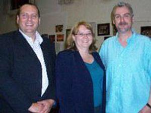 Lynda Nicholson with Alun Edmond and Steve Stewart