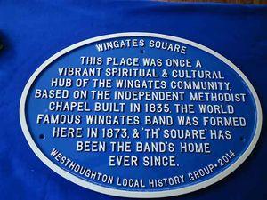 Wingates plaque