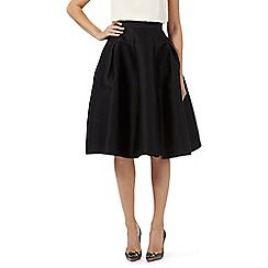 008010742160: Black Diana flared skirt