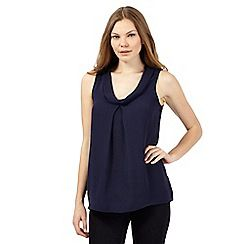 017010660443: Navy roll neck shell top