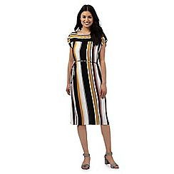 038020780528: Multi-coloured striped print dress