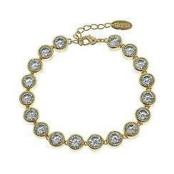 060011342020: Gold brilliant cubic zirconia tennis bracelet