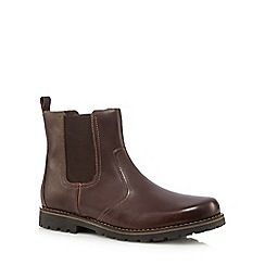 084010582188: Dark brown leather Chelsea boots
