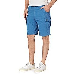 092010822045_BT: Big and tall blue cargo shorts