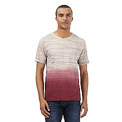 099010628602: Dark red dip dyed t-shirt