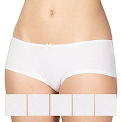 158010302380: 5 pack cotton white shorts