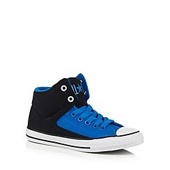 231010893145: Boys black and blue High Street trainers