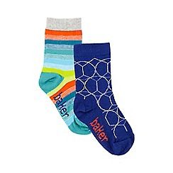 233010727294: Pack of two boys multi-coloured patterned socks