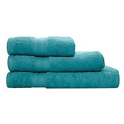 308001700029: Bright turquoise Egyptian cotton towel
