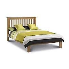 321005496674: Oak Newbury bed frame with Deluxe mattress