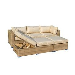 326001316774: Brown rattan effect LA Rio garden corner unit