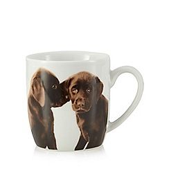 332013702694MG00: White chocolate Labrador print mug